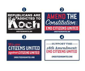 Free End Citizens United Sticker