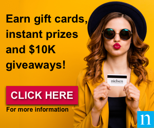 Earn Gift Cards, instant prizes and $10K Giveaways