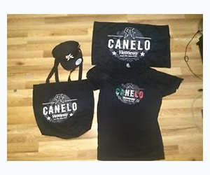 Free Canelo T-Shirts, Pins, Hats, And Hennessy Glasses