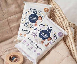 Free Millie Moon Luxury Diapers And Sensitive Wipes Samples