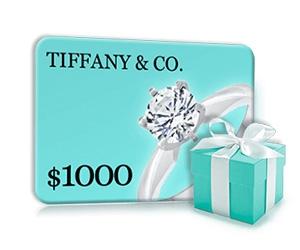 Free $1000 Tiffany Gift Card