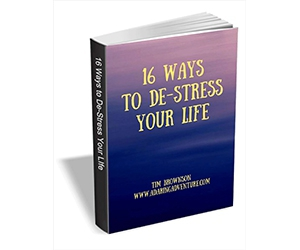 "Free eGuide: ""16 Ways to De-stress Your Life"""