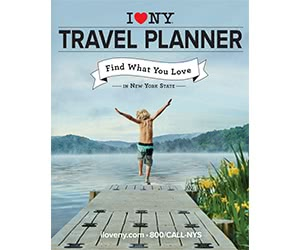 Free NYS Travel Guide, Map and Sticker