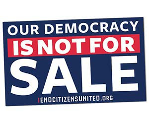 """Free """"Democracy Is Not For Sale"""" Sticker"""