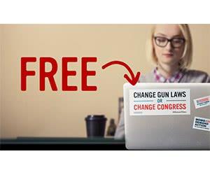 "Free ""Change Gun Laws Or Change Congress"" Sticker"