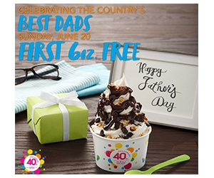 Free 6 oz Froyo for Dads at TCBY
