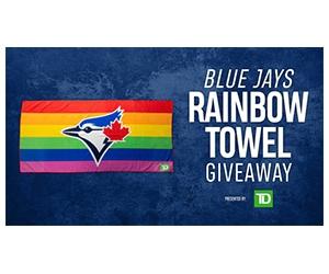 Free  Blue Jays Rainbow Towel