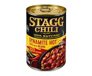 Free x4 Chili Cans From Stagg