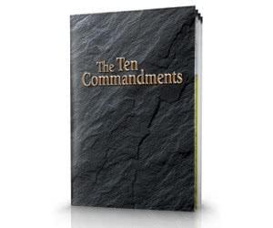 Free Bible Study Aid - Ten Commandments Study Guide