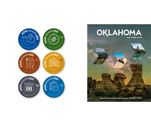 Free Oklahoma Travel Guide & Map Kit + #OKHereWeGO Sticker Pack