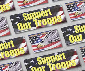 """Free """"Support the Troops"""" Stickers"""