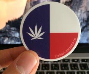 Free Dallas Cannabis Co. Stickers