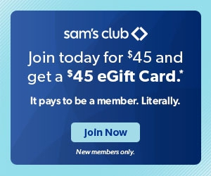 Join Sam's Club for $45 and get $45 in Savings