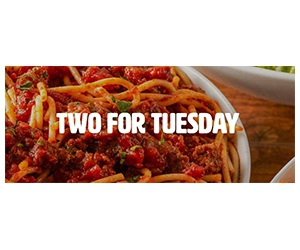 Free Pasta at Buca Di Beppo Every Tuesday