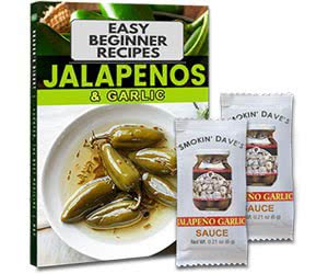 Free Smokin' Dave's Jalapeno Garlic Sauce Recipe Book Sample